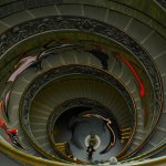 Lisa Husar - Motion On Vatican Stairway - HM - Digital Advanced Artistic Contemporary