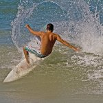 Bruce Peters / Surfing Acrobatics / 3rd / Digital Intermediate Pictorial
