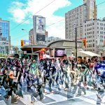 Robbie Robinson / Dundas Square Crowd / 1st / Digital Intermediate Artistic Contemporary