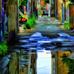 Marty Pinker - Reflections On Graffiti Alley - 1st - Digital Intermediate Artistic Contemporary