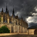 Ina Miglin - Stormy Sky Above St Barbara Church In Kutna Hora - HM - Digital Advanced Pictorial